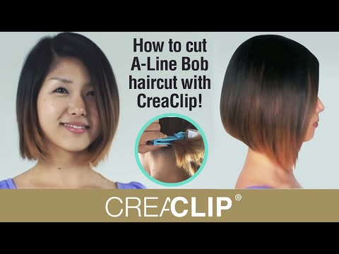 How To Cut An A Line Bob Hairstyle On Your Self At Home