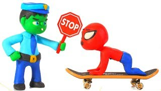 FUNNY KIDS PLAY POLICE ❤ Play Doh Cartoons For Kids