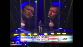 """Michael Grimm - America's Got Talent wk3 """"Tired of Being Alone"""""""