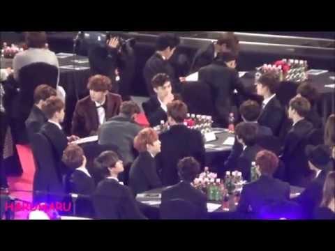 150122 EXO Cute Moments (Sehun) 엑소 형들이랑 귀여운 세훈이 @ Seoul Music Awards 서울가요대상