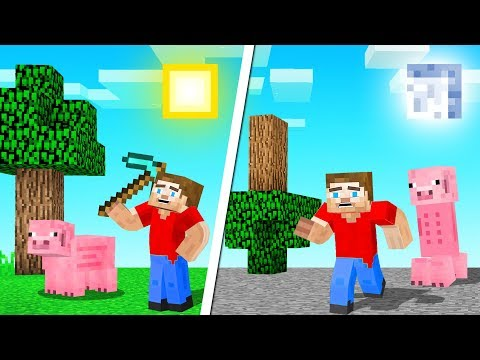 Visiting a PARALLEL UNIVERSE In MINECRAFT! (crazy)