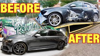 Rebuilding a salvage AUDI RS6 in 10 minutes