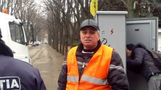 Tudor Pînzari își apără vizibilitatea protestului