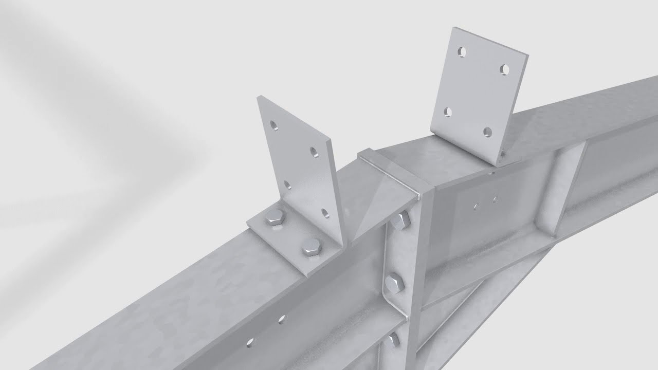 Steel Portal Frame Building Assembly Editech 2013 Youtube