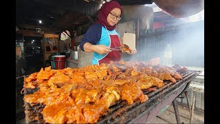 World's BEST BBQ CHICKEN | Street Food in Malaysia - RARE Kuala Terengganu STREET FOOD Guide!
