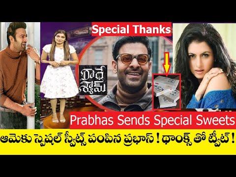 Prabhas surprises Radhe Shyam co-star Bhagyashree with Hyderabad sweets