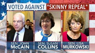 "John McCain casts decisive ""no"" vote on Obamacare repeal"