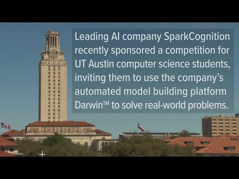 Global AI company, SparkCognition, hosted a competition with $15,000 worth of scholarship prizes for students during the Spring 2019 semester at the University of Texas at Austin. The teams were tasked to use Darwin, an automated model building platform, to solve a real-world problem.