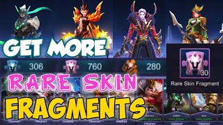 TRICKS TO COLLECT RARE FRAGMENTS FASTER AND BUY SKINS ON RARE FRAGMENT SHOP   MOBILE LEGENDS