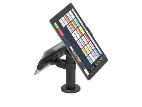 Double Rise Tablet Stand - Retail POS - Full Cable Management