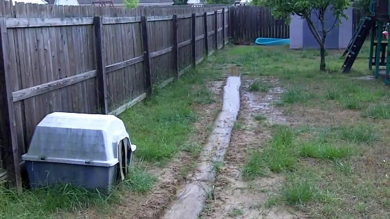 Backyard Drainage Problem - YouTube