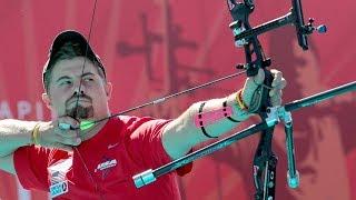 Brady Ellison v Oh Jin Hyek – recurve men's quarterfinal   Lausanne 2014 Archery World Cup Final