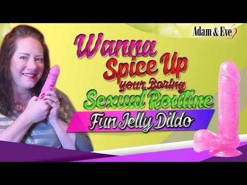 A&E Fun Jelly Dildo | Realistic Suction Cup Pink Dildo Review