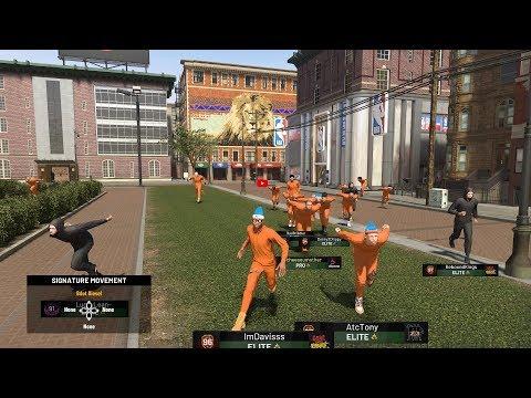 I CREATED MY OWN PARK EVENT ON NBA 2K19...COPS VS PRISONERS PLAYSHARPS VS LOCKDOWNS.. w GMAN my park