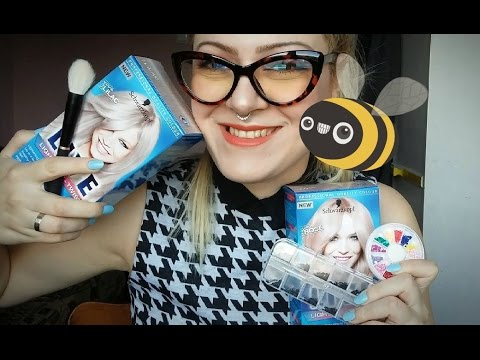 Super Cute Haul / Thrift,New Glasses, Pastel Hair, Face Jewels!!!