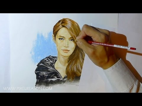 After School Kahi Park Watercolor Portrait Painting HD @misskahi