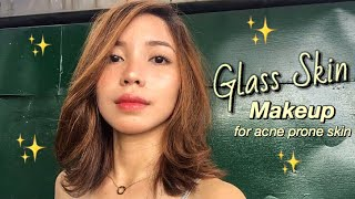 Glass Skin Makeup for ACNE Prone Skin (Philippines) | Auli Magtagnob