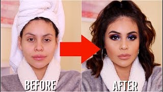1 HOUR MAKEUP + HAIR TRANSFORMATION | JuicyJas