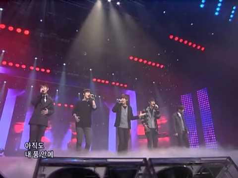 SHINee - Romantic + love should go on + Amigo @ SBS Inkigayo 인기가요 090104