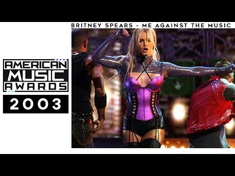 Britney Spears - Me Against The Music (Live at the 2003 American Music Awards) AMA