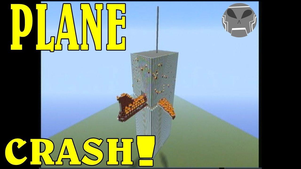 minecraft plane crash into building built in minecraft