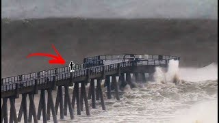 BIGGEST WAVES EVER IN FLORIDA!!! (Hurricane Michael Surf Gulf Coast) | JOOGSQUAD PPJT