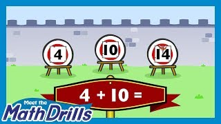 Meet the Math Drills Addition - 4's