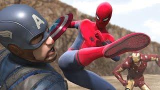 Iron Man vs Captain America vs Spiderman (Part 1/3)