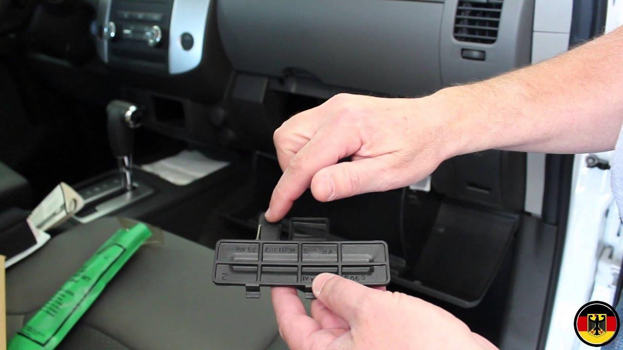 2005 2012 Nissan Xterra Cabin Filter Replacement