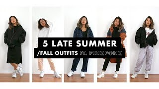 5 Late Summer/Fall Outfits ft. Pinqponq