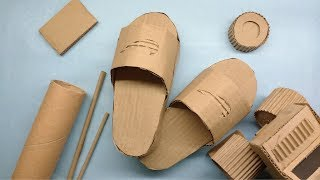 How To Make A Nike Slippers From Cardboard