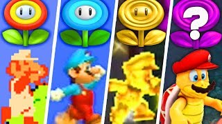 Evolution of Super Mario Flower Power-Ups (1985 - 2019)