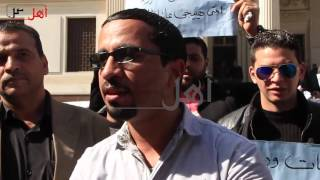 وقفة لعمال «المصرية للاتصالات» للمطالبة برفع العلاوة ...