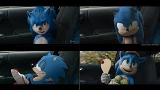 Sonic The Hedgehog Movie All Trailers Sonic Designs Compilation