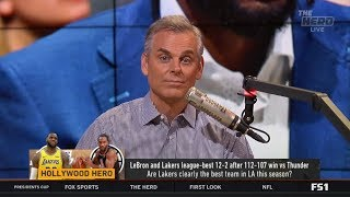 THE HERD   Colin IMPRESSED by LeBron and Lakers league-best 12-2 after 112-107 win vs Thunder