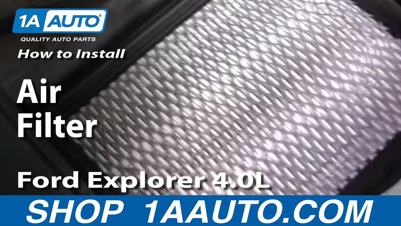 how to install replace air filter ford explorer 4 0l 97 05. Black Bedroom Furniture Sets. Home Design Ideas