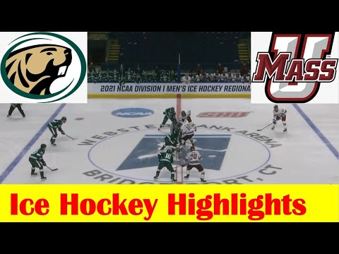 Bemidji State vs UMass Ice Hockey Game Highlights, 2021 NCAA Bridgeport Regional Final