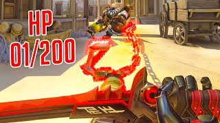 THINK FAST or DIE - 1 HP Outplays - Overwatch Montage