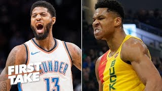 Paul George, not the Greek Freak is leading the MVP race – Stephen A. | First Take