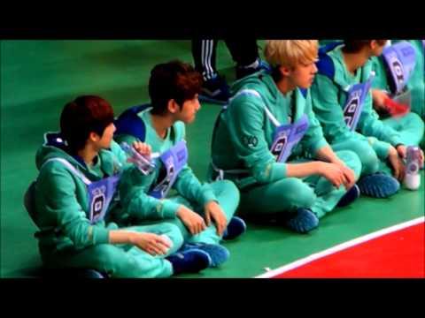 130128 아이돌 스타 육상&양궁 선수권 대회 EXO Cute moments