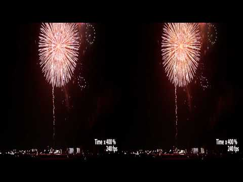 3D Fireworks at KuwanaTwixtor Slow Motion�(SBS Version)