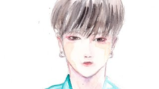 2D animation with watercolor for Yesung (Super Junior) Happy Birthday