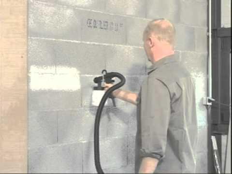 Peindre vos parpaings ou agglo avec votre station earlex - Peinture pour mur de garage ...