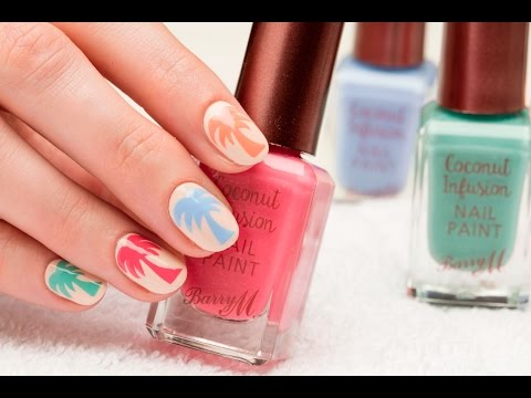Barry M Summer Palm Trees Nail Art Tutorial ft. Coconut Infusion with Sophie Harris-Greenslade