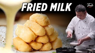 Melt in Your Mouth Fried Milk by Chinese Masterchef • Taste The Chinese Recipes Show