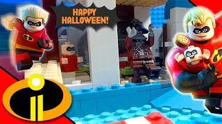 Lego Incredibles 2 Halloween Swimming Pool | Stop Motion Cartoon For Kids