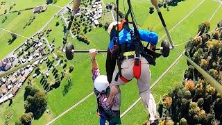 Pilot Forgets to Attach Tourist to Hang Glider