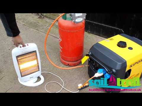 Kipor IG3000 LPG Electric Start Process and Heater Demonstration By Sail and Trail