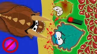 Mope.io NEW DINO MONSTER THROWS SEA MONSTERS TO LAND! | DINO MAKES SEA ANIMALS FLY! | Mope.io funny