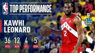 Kawhi Leonard Drops A Finals Career-High 36 Points In Game 4 | 2019 NBA Finals
